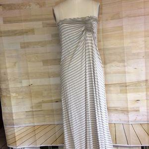 Max Studio Draped Tube Knit Dress in Tans/Creams